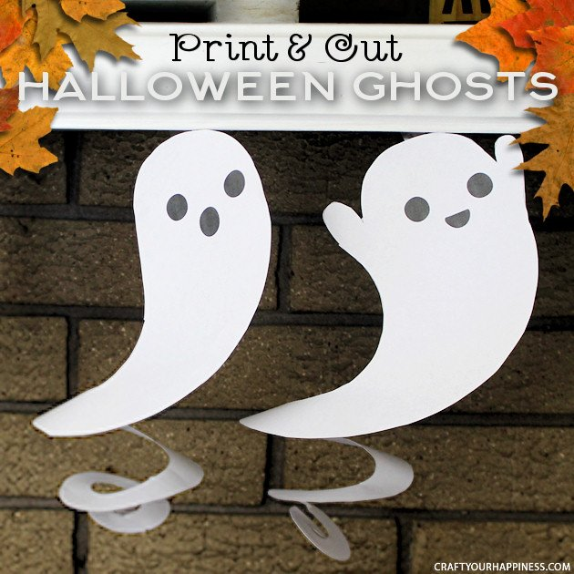 Print Amp Cut Dangling Ghost Halloween Decorations