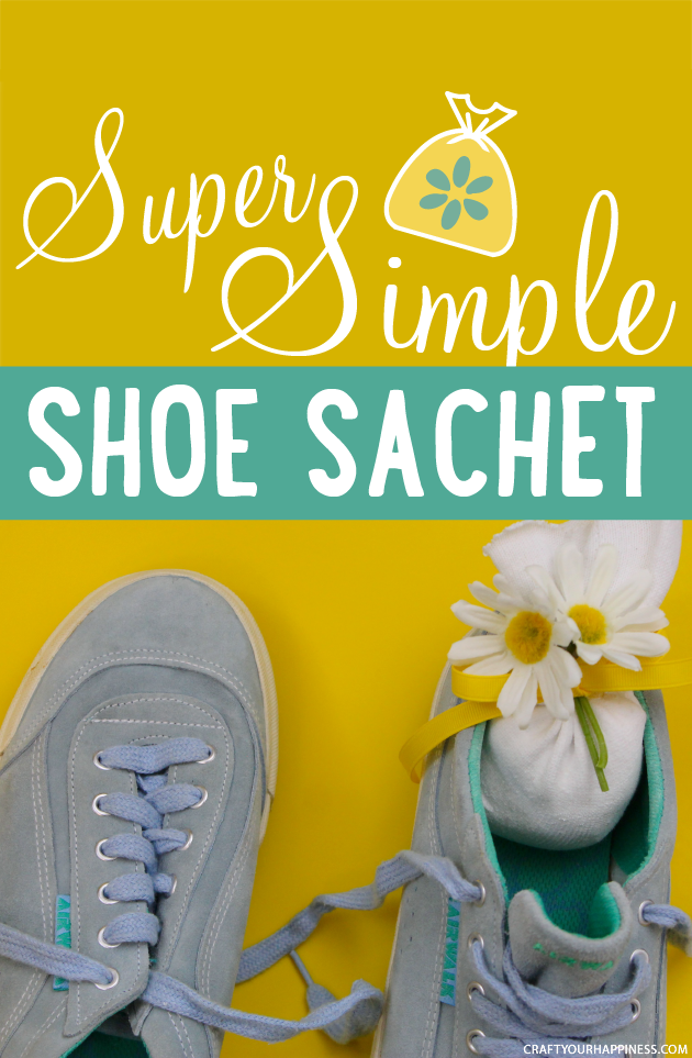 Get rid of smelly shoes with these super easy and quick to make No-Sew DIY Sachets. We added a bit of bling to ours and they turned out awesome!