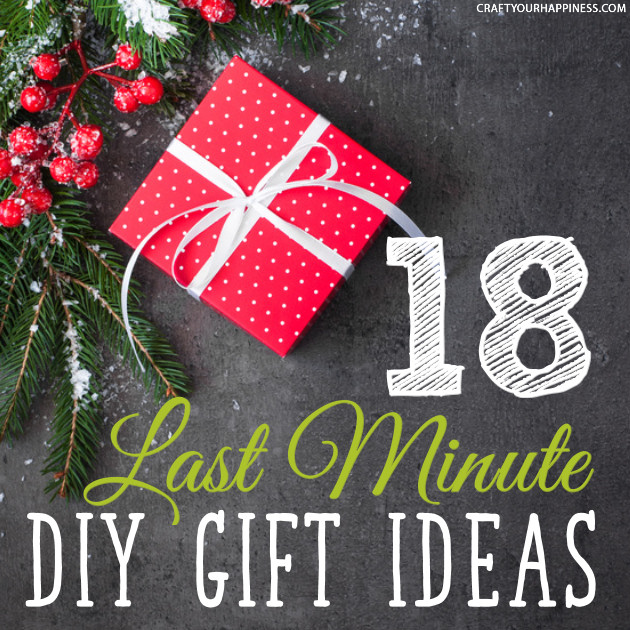 Need some last minute Christmas gift ideas you can quickly make yourself? We've got eighteen of them for you! Homemade gifts can be the most meaningful.