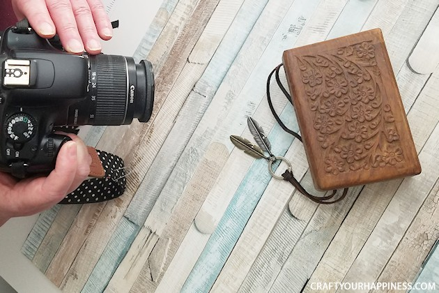 If you're a blogger you're most likely taking photos for your posts. We'll show you how to make quick and easy DIY photo backdrops for smaller items that's inexpensive and easy. All you need is a foam board, some contact paper, or spray glue and scrapbook paper of your choice. Cover both sides and get two in one!