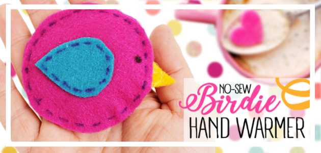 How to Make Quick Little Bird No-Sew DIY Hand Warmers