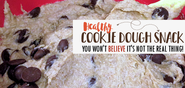 You won't believe how delicious this healthy cookie dough recipe is. And it tastes JUST LIKE THE REAL THING except its good for you! (Printable Recipe)