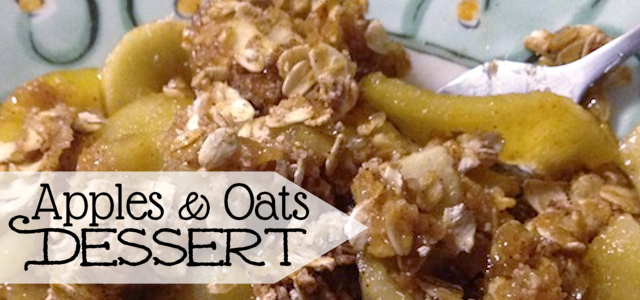 Apples Oats Dessert (No Dairy or Fat!)