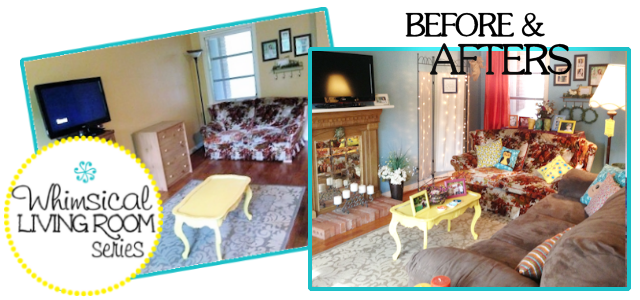 Whimsical Living Room #12 :  Before & Afters