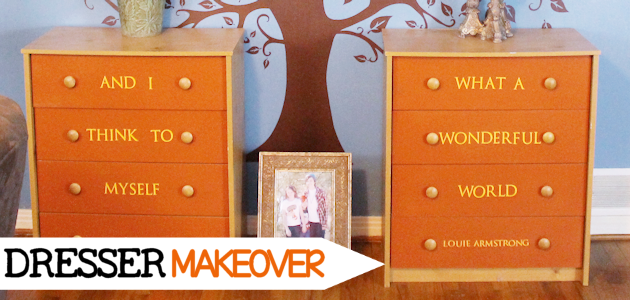 Whimsical Living Room #4 : Unique Dresser Makeover