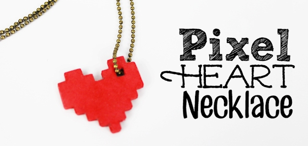 Pixel Heart Necklace FEAT