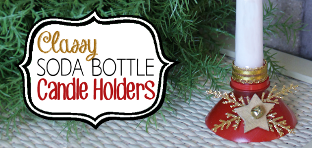 DIY Candle Holders From Soda Bottles