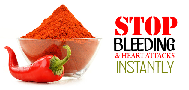 Cayenne Stops Bleeding & Heart Attacks Instantly (video)