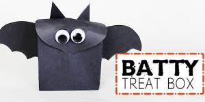 Batty Treat Box an Easy Halloween Craft (Free Template)