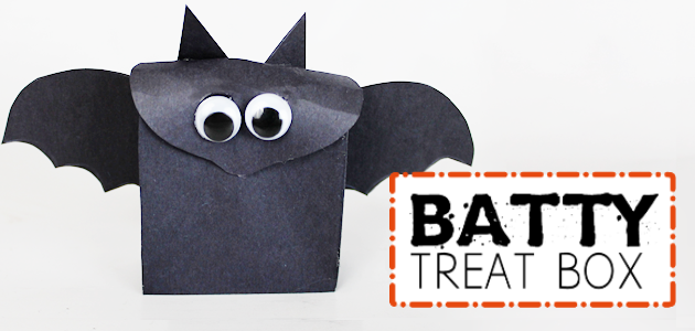 Batty Treat Box an Easy Halloween Craft (Free Template)
