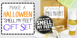 DIY Trick or Treat Smell My Feet Gift Set