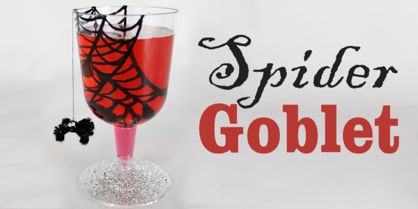 Plastic Spider Goblet : Halloween Party Ideas for Adults & Kids