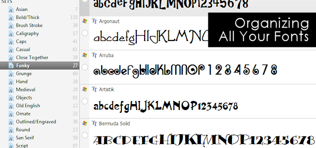 Font Organizing Can Be Fun!