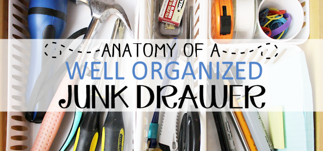 Anatomy of a Well Organized Junk Drawer