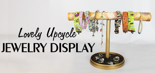 Lovely Jewelry Stand From CD Spool