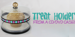Treat Holder from CD DVD Spool : CD Crafts Ideas