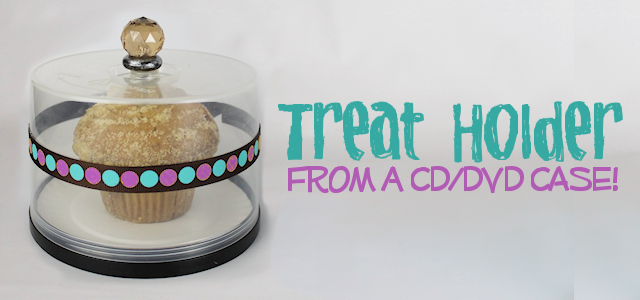 Treat Holder from CD DVD Spool : CD Crafts Ideas