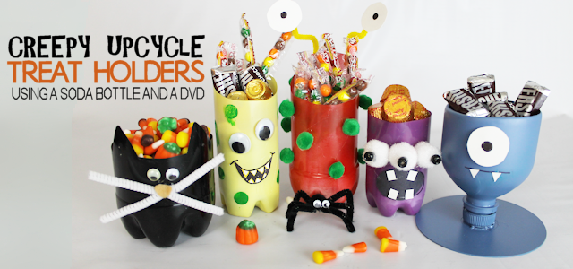 Easy Halloween Craft Treat Holders (From  Plastic Bottles)