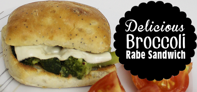 Delicious Broccoli Rabe : A Healthy Sandwich