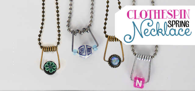 Clothespin Spring Necklaces