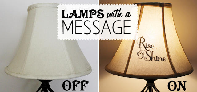 Decorate a Lamp Shade With Messages : Express Yourself!
