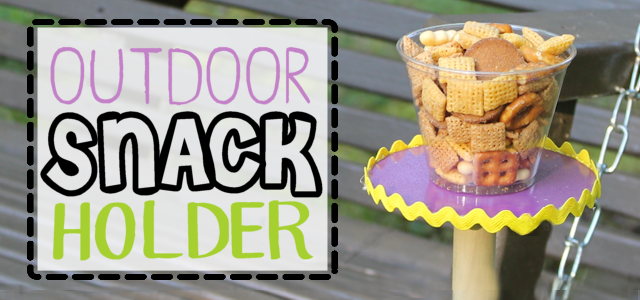Outside Snack Holder DIY (CD & Plastic Cup)
