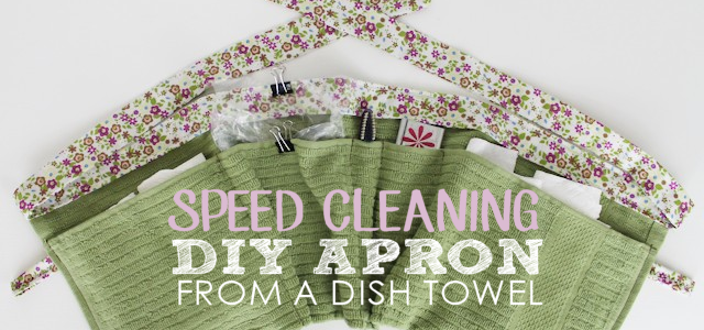 Speed Clean With This DIY Pocket Apron