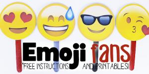 Free Emoji Fan Printables & Instructions (CD Craft)