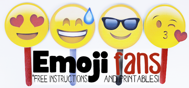 Free Emoji Fan Printables & Instructions (CD Craft)