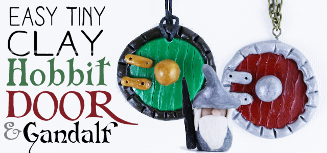 Easy Tiny Clay Hobbit Door (& Gandalf)