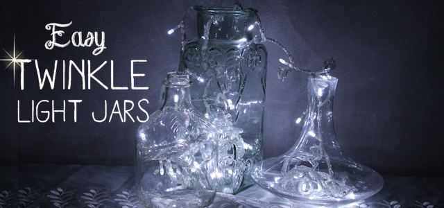 It's Easy to Make  DIY Twinkle Lights in Jars!