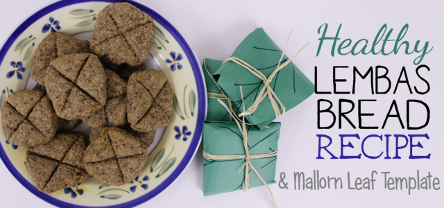 Simple, Healthy Lembas Bread Recipe & Mallorn Leaf Template