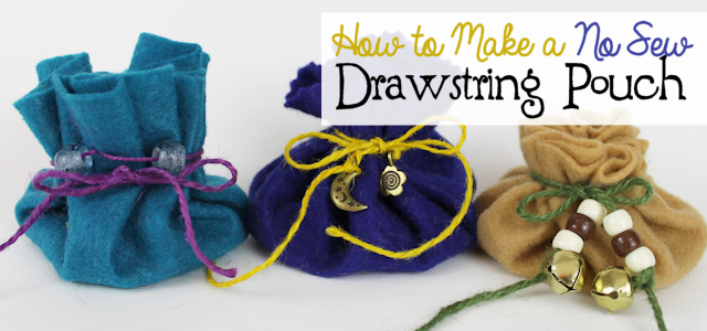 Make a No Sew Drawstring Pouch