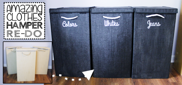 Amazing Clothes Hamper Redo