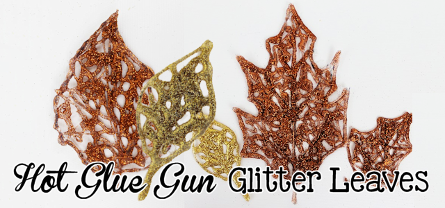 DIY Fall Decorations : Hot Glue Glitter Leaves