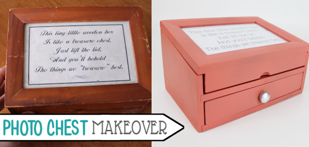 Small Photo Chest Makeover : Buff Your Stuff Cheap Decor Ideas!