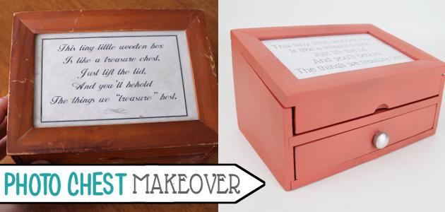 Small Photo Chest Makeover : Buff Your Stuff Cheap Decor Ideas!