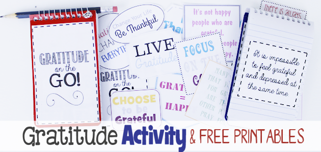 Gratitude On the Go! A Fun Gratitude Activity