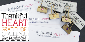 A Thankful Heart – Simple 30 Day Gratitude Challenge