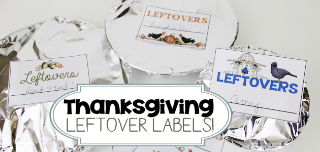 Thanksgiving Leftovers Labels