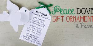 Peace Dove Gift Ornament & Poem