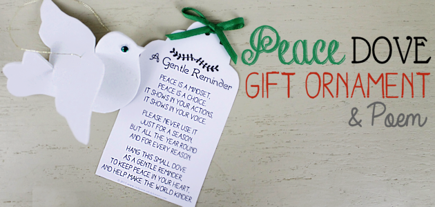 Peace Dove Gift Ornament & Poem