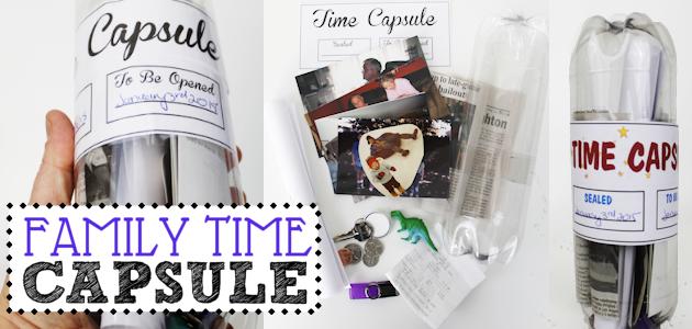Make a Plastic Bottle Family Time Capsule (Free Printables!)