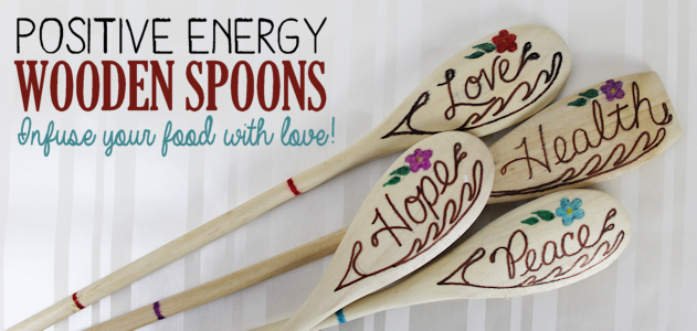 Positive Energy Wooden Spoons : Infuse Your Food With Love