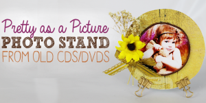 Pretty as a Picture Photo Stand : CD Crafts