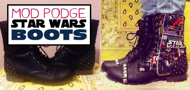 Mod Podge Star Wars Boots