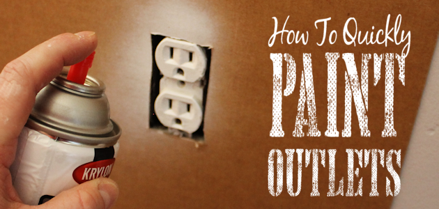 Save Time & Money by Painting Outlets Rather Than Replacing Them