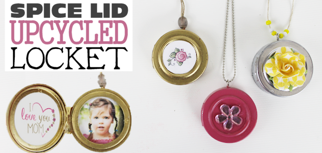 DIY Upcycle Locket Necklace