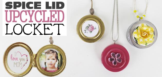 DIY Upcycle Locket Necklace