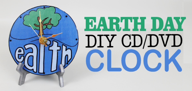 DIY World Clock for Earth Day from CD/DVD